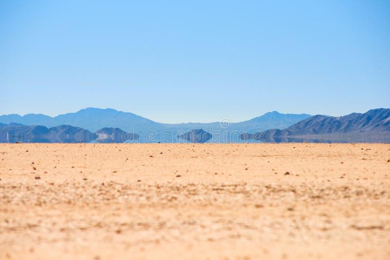 海市蜃楼在死亡谷 免版税库存图片