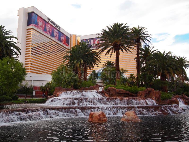 海市蜃楼旅馆和赌博娱乐场在拉斯维加斯 图库摄影