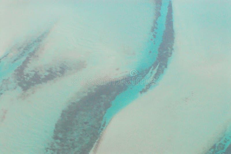 海底的空中图象在巴哈马岛 免版税库存图片