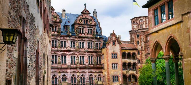 海得尔堡城堡-德国 免版税图库摄影