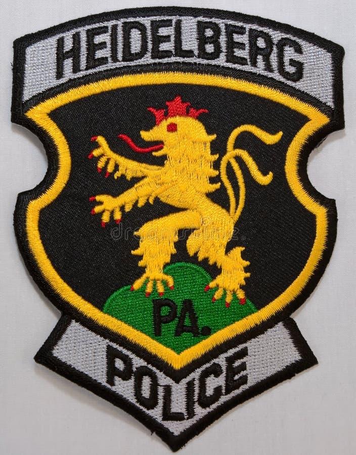 海得尔堡警察局的肩章在宾夕法尼亚 库存照片