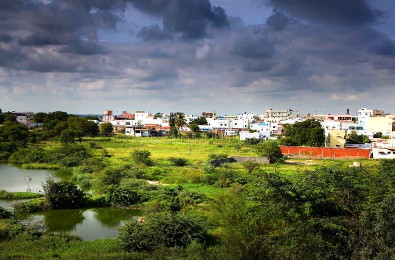 海得拉巴印度的郊区 免版税图库摄影