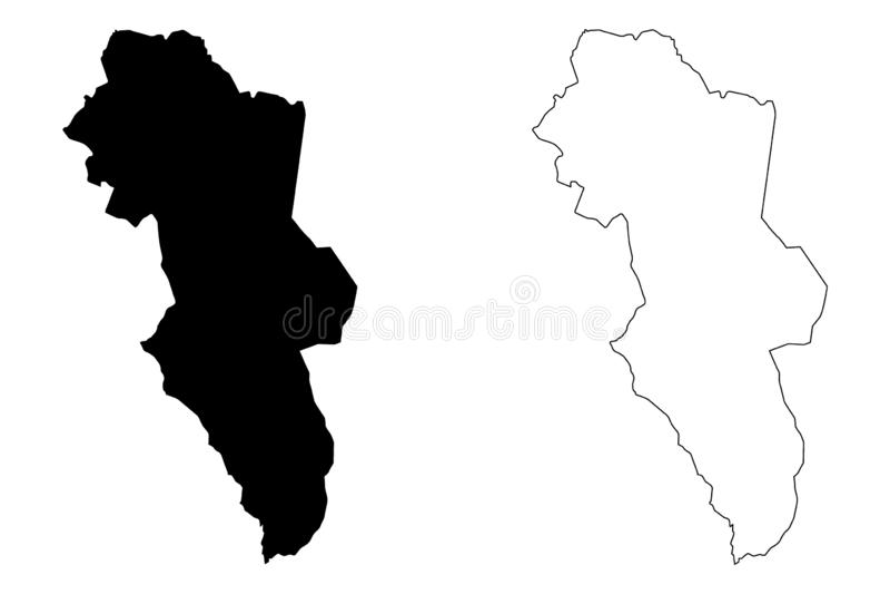 海德马克郡地图传染媒介 皇族释放例证