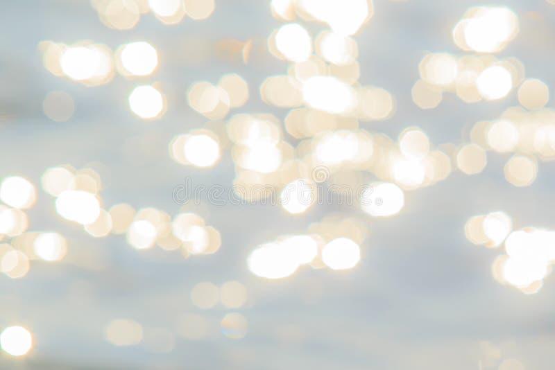 海或海洋闪烁水的抽象或模糊的图象  库存照片