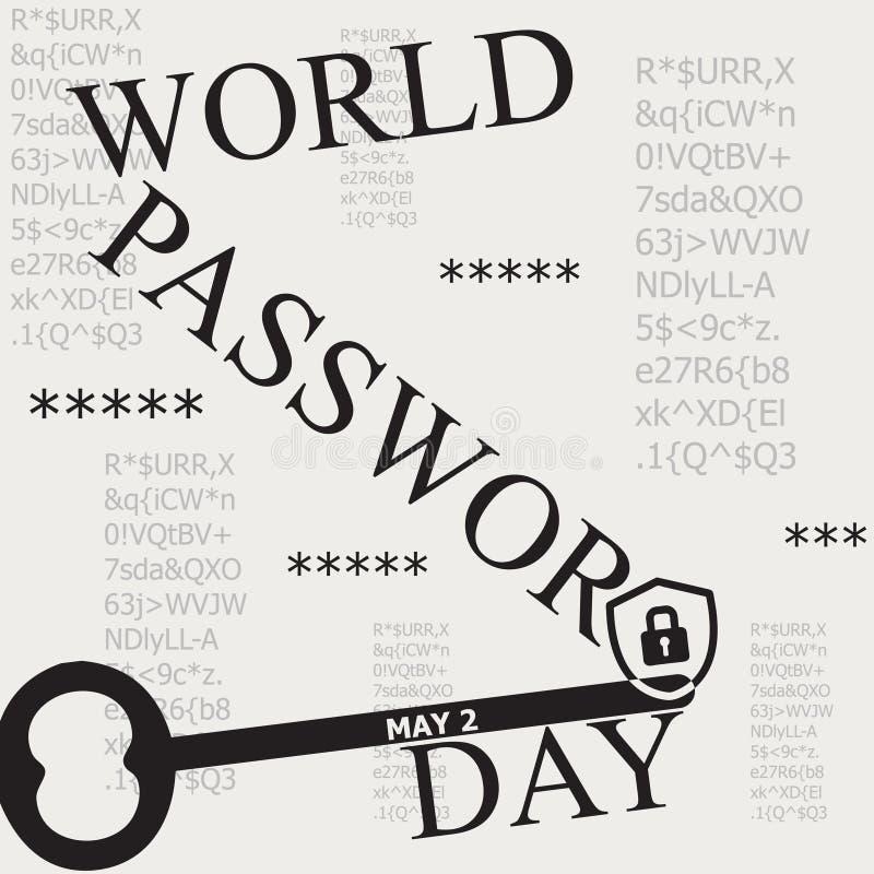 海报世界密码天 库存例证