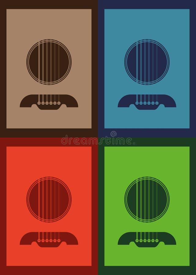 海报例证图表传染媒介吉他 向量例证