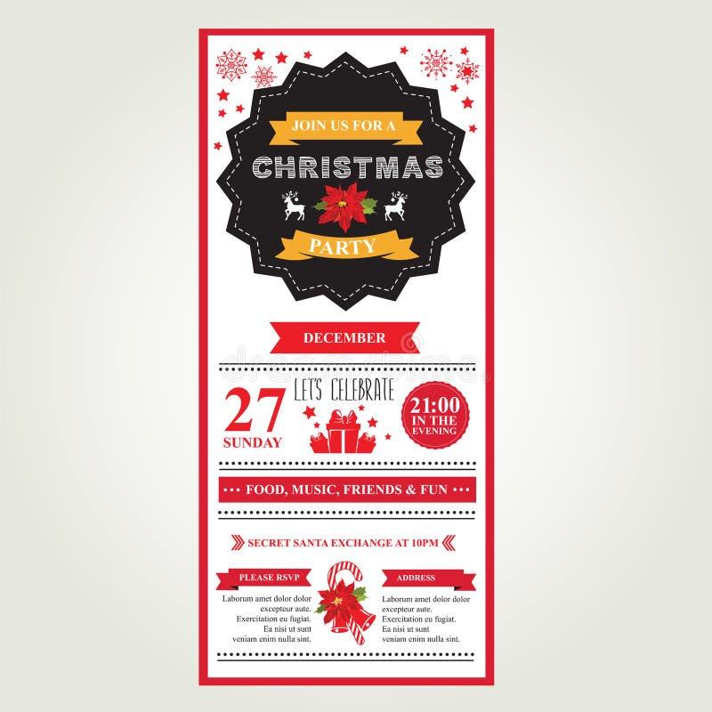 海报圣诞快乐 也corel凹道例证向量 库存例证
