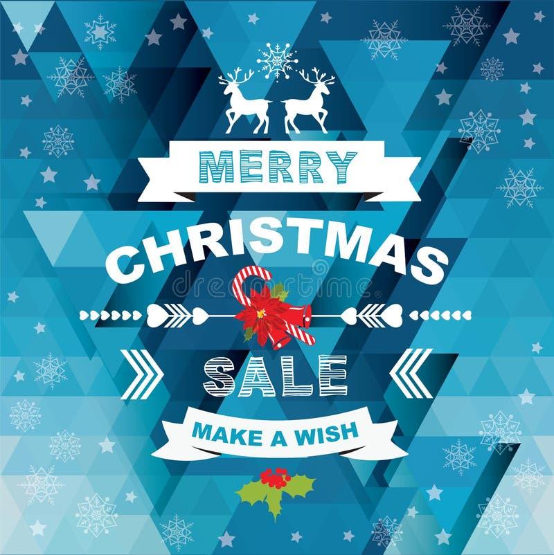 海报圣诞快乐 也corel凹道例证向量 向量例证