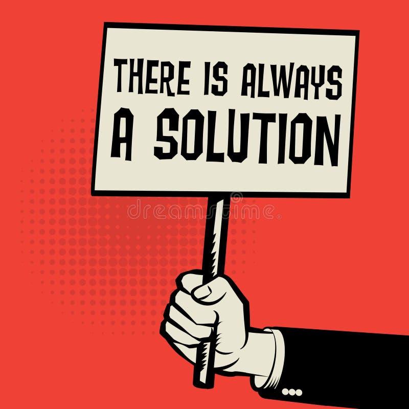 海报在手中,企业那里概念文本总是解答 皇族释放例证