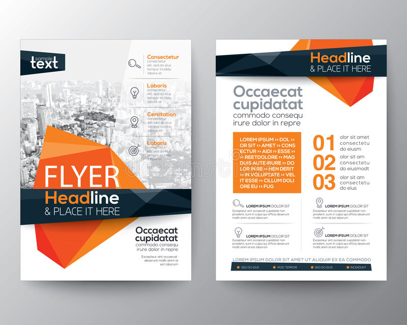 海报小册子飞行物设计的抽象低多角形背景 向量例证