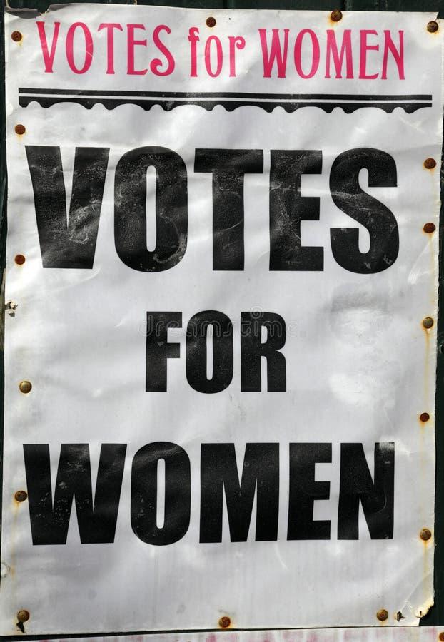 海报投票妇女 库存照片