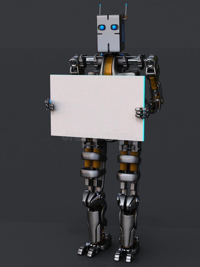 海报机器人 皇族释放例证