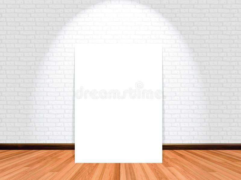 海报的嘲笑在空的屋子背景里 库存图片