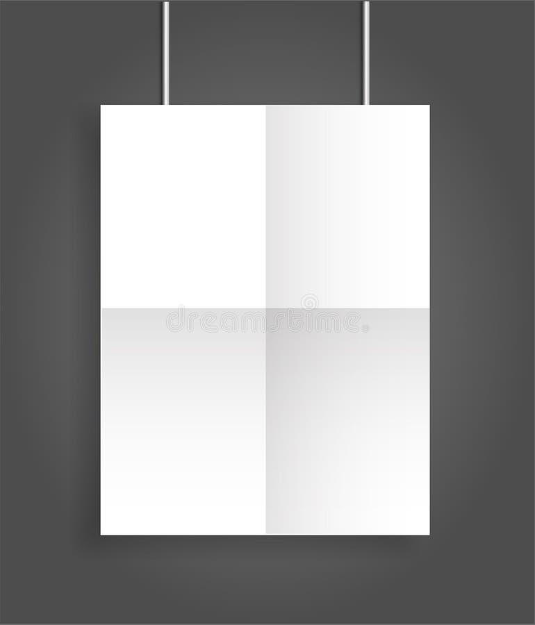 海报空白的双折叠小册子大模型盖子模板 皇族释放例证