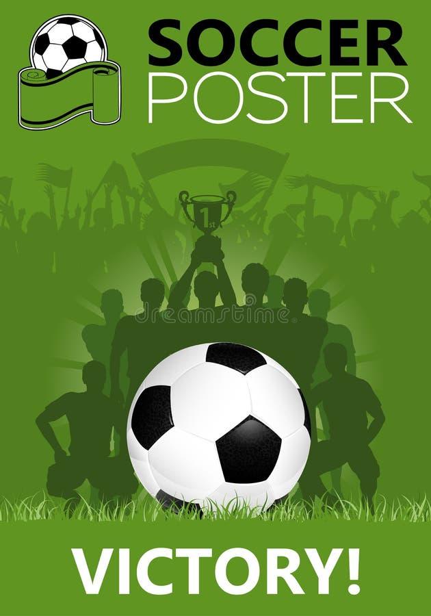 海报足球 向量例证