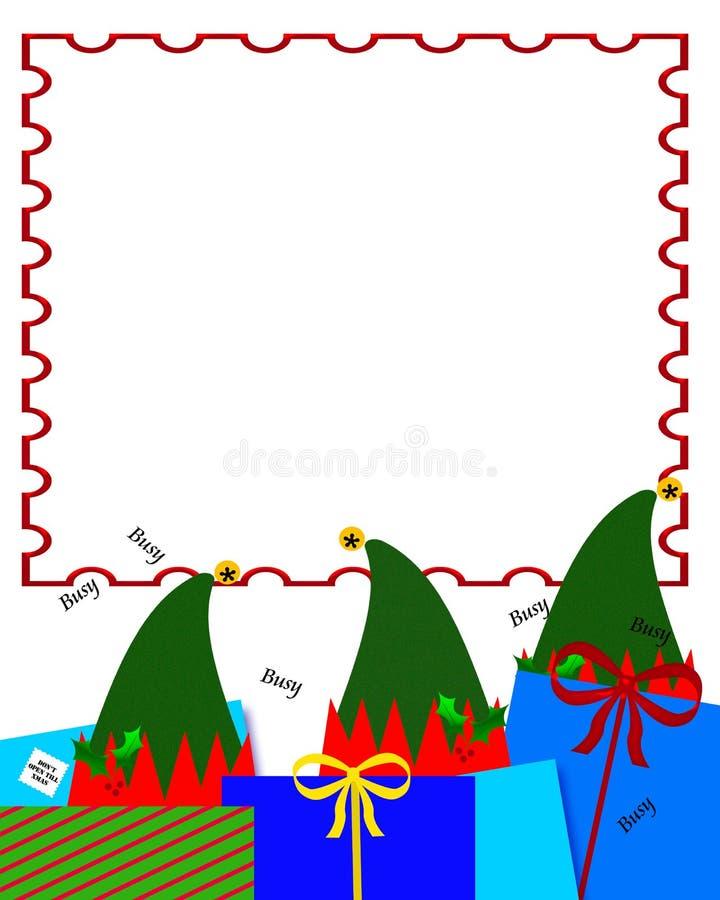 海报s圣诞老人讨论会 库存例证
