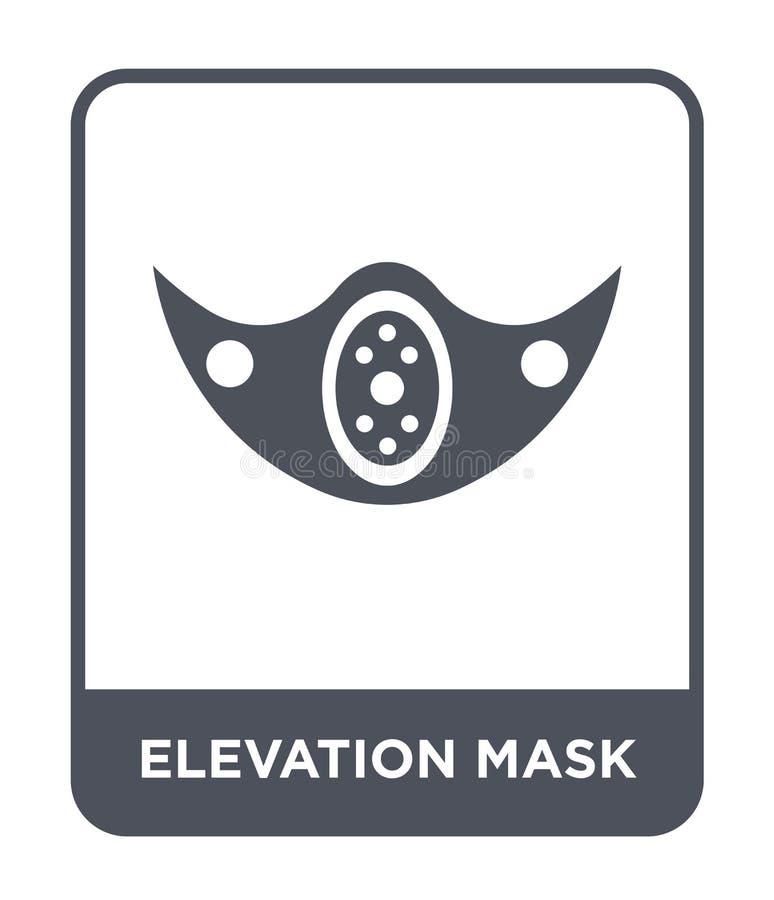 海拔在时髦设计样式的面具象 海拔在白色背景隔绝的面具象 海拔面具简单传染媒介的象 库存例证