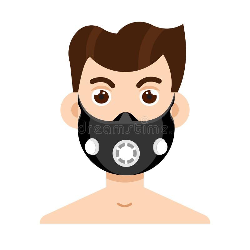 海拔训练面具 传染媒介例证股票 库存例证
