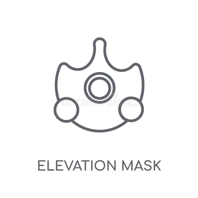 海拔面具线性象 现代概述海拔面具商标c 皇族释放例证