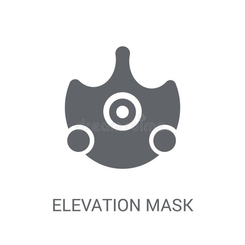 海拔面具象 在白色的时髦海拔面具商标概念 向量例证