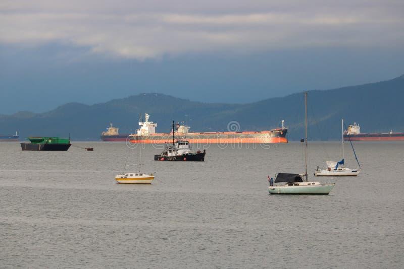 海旅途散装货轮 库存图片