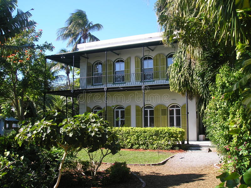 海明威房子基韦斯特岛 库存图片