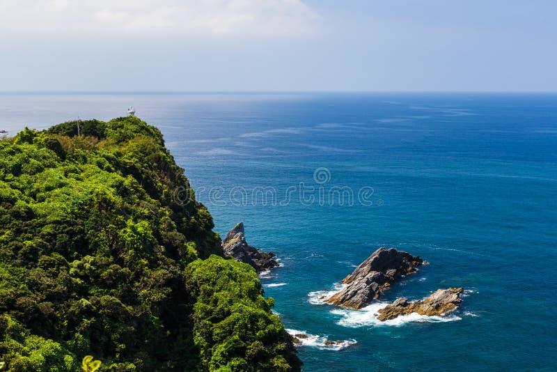 海景和海岸线在Jusambutsu停放, Amakusa,熊本 库存图片