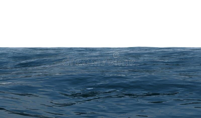 海景在白色背景3D的晴朗的夏日回报 向量例证