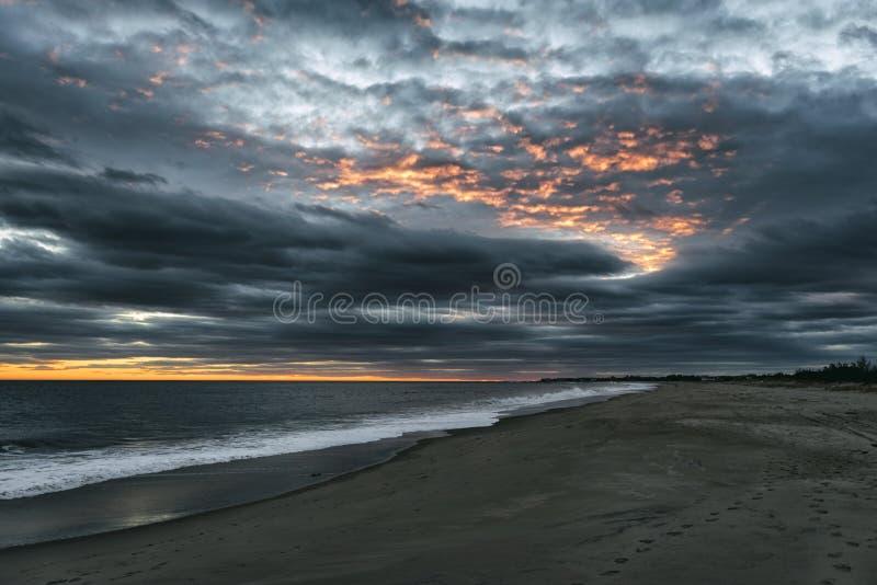 海景在罗德岛州 库存图片