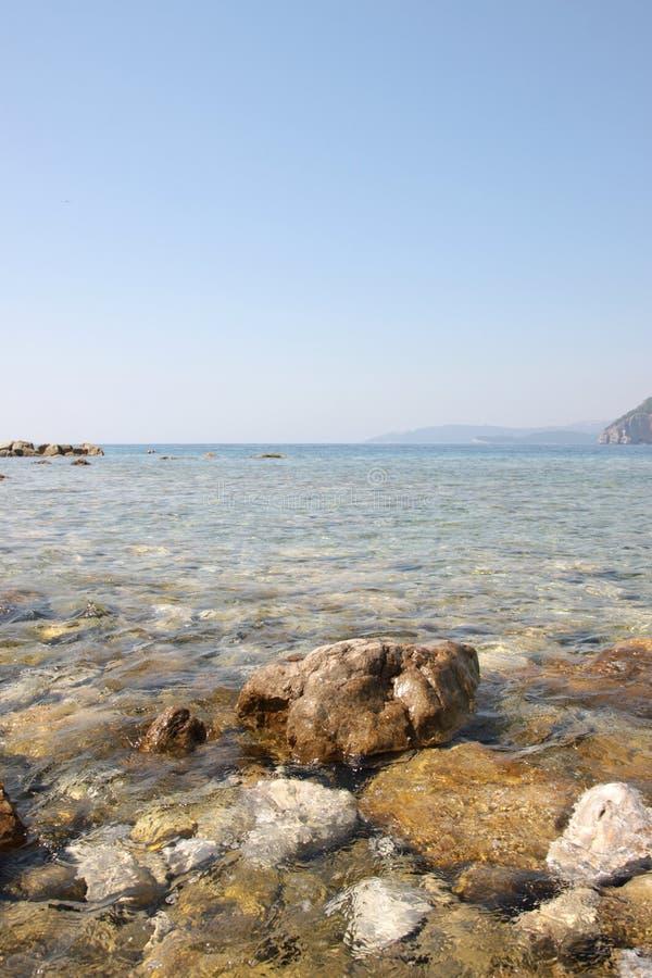 海景在黑山 免版税库存图片