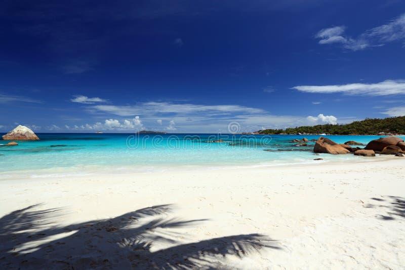 海景塞舌尔群岛 图库摄影