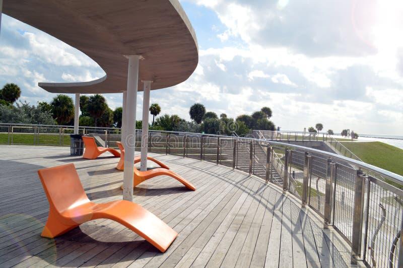 海景,南Pointe公园,南海滩,佛罗里达 库存照片