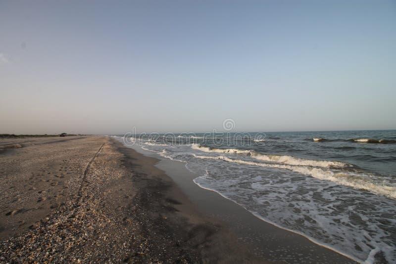 海景,狂放的海滩,海浪 库存照片