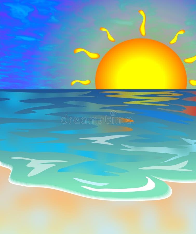 Download 海景 库存例证. 插画 包括有 沿海, 假期, 热带, 海岸线, 手段, 风景, 海运, 日出, 蓝色, 海景 - 52158