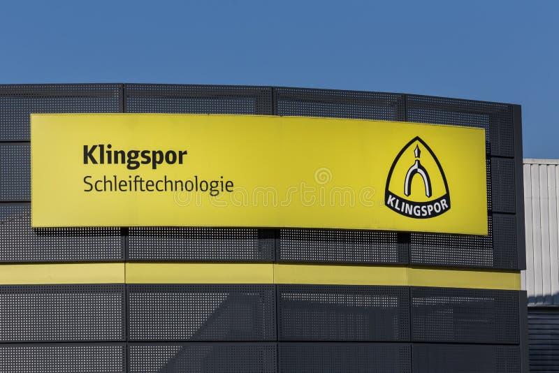 海格尔,黑森/德国- 17 11 18:haiger的德国klingspor工厂 免版税库存照片