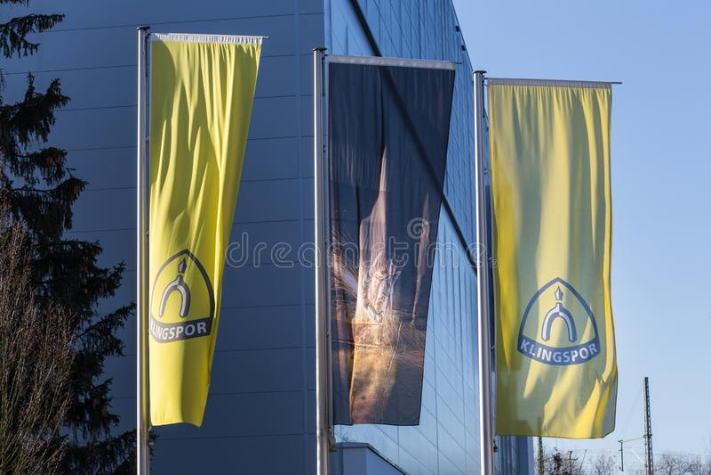 海格尔,黑森/德国- 17 11 18:haiger的德国klingspor工厂 库存图片
