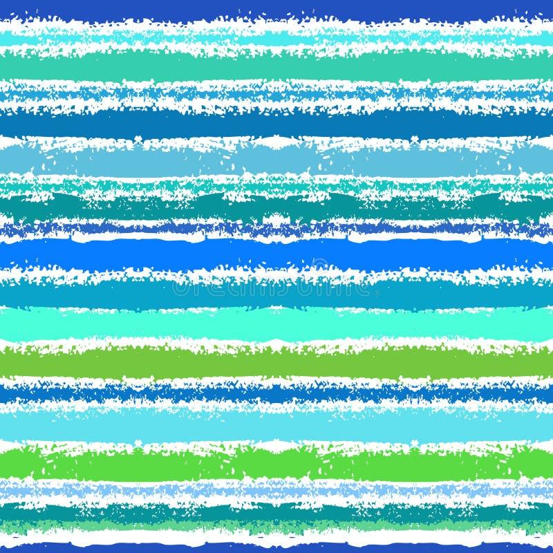 海波浪启发的条纹图形 库存例证