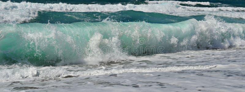海波浪 库存照片