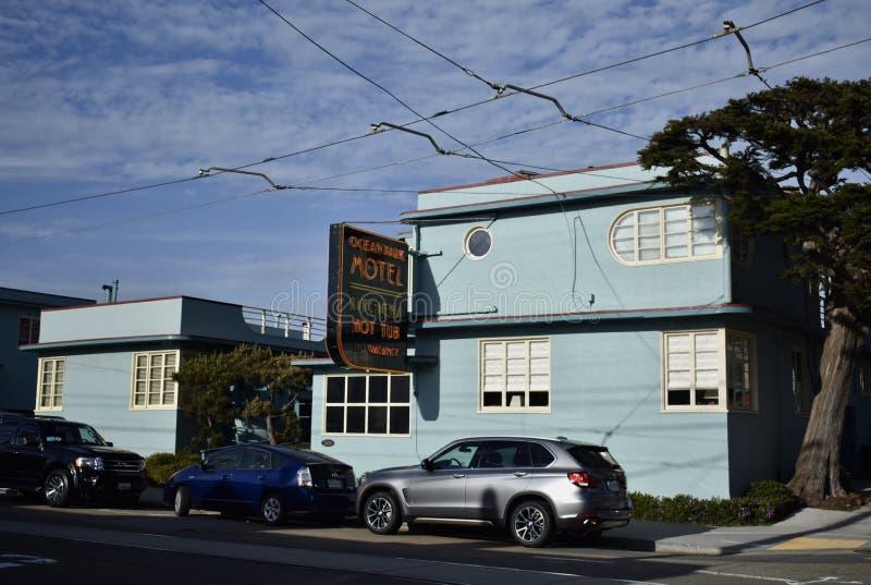 海洋公园汽车旅馆,旧金山` s最旧的汽车旅馆 免版税库存照片