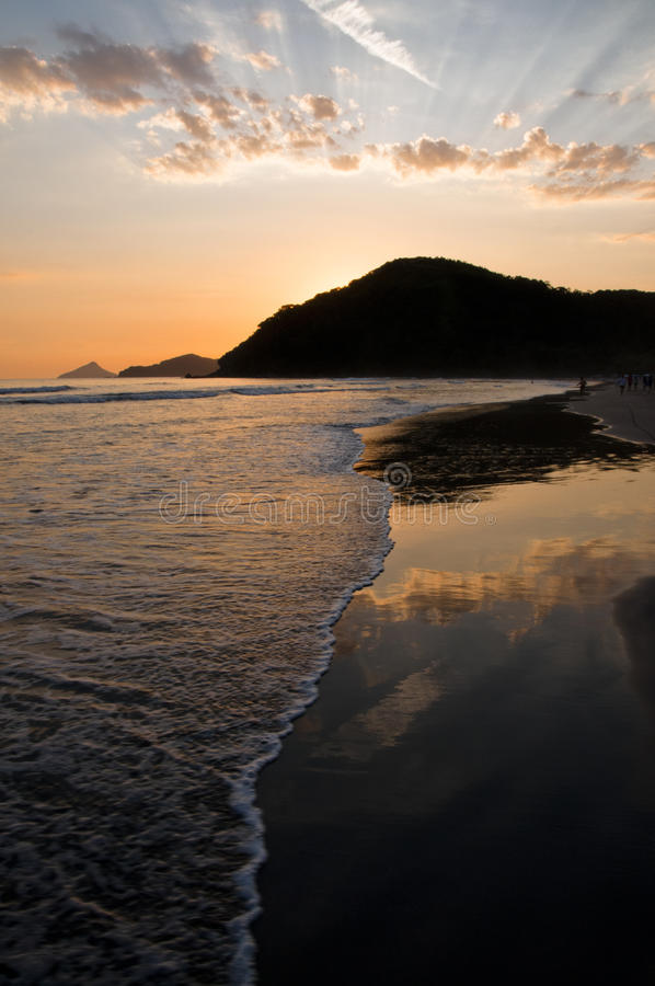 海洋反映日落 库存图片
