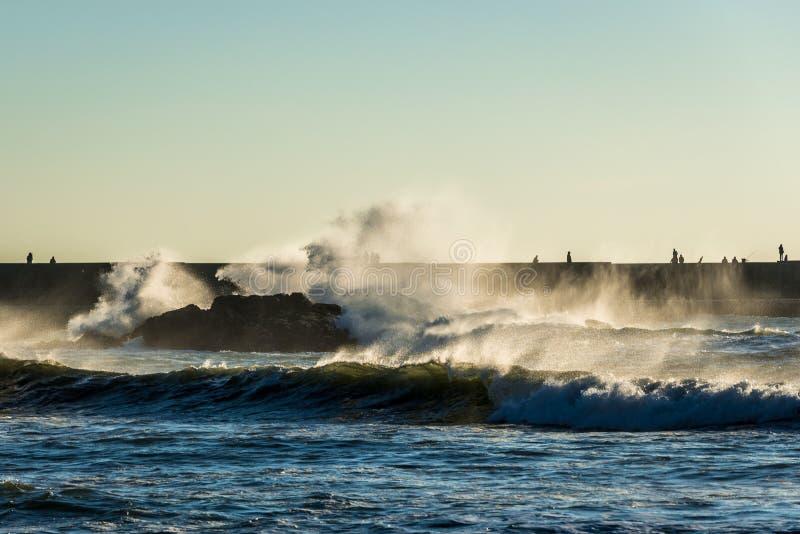 海洋在波尔图 免版税图库摄影