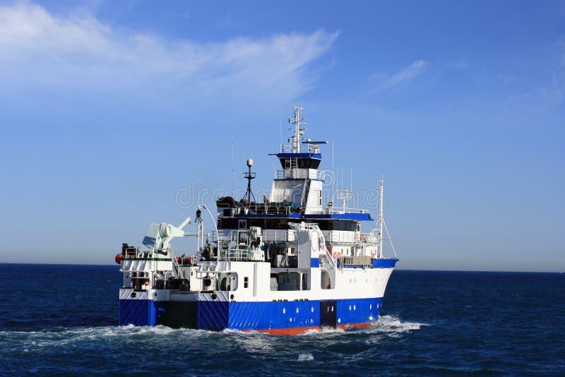海洋学船 库存图片