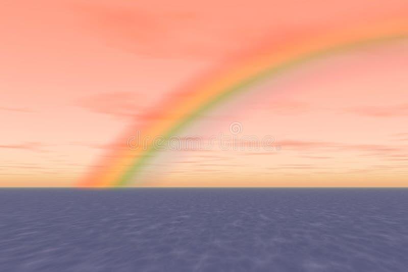 海洋彩虹 免版税库存图片