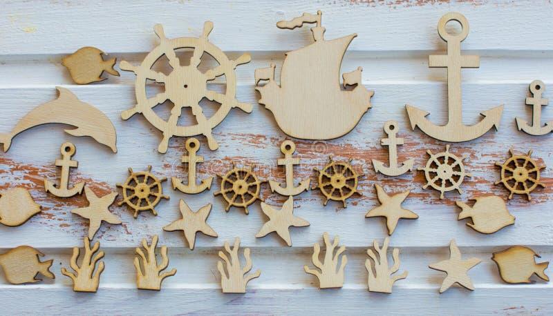 海洋木图 库存照片