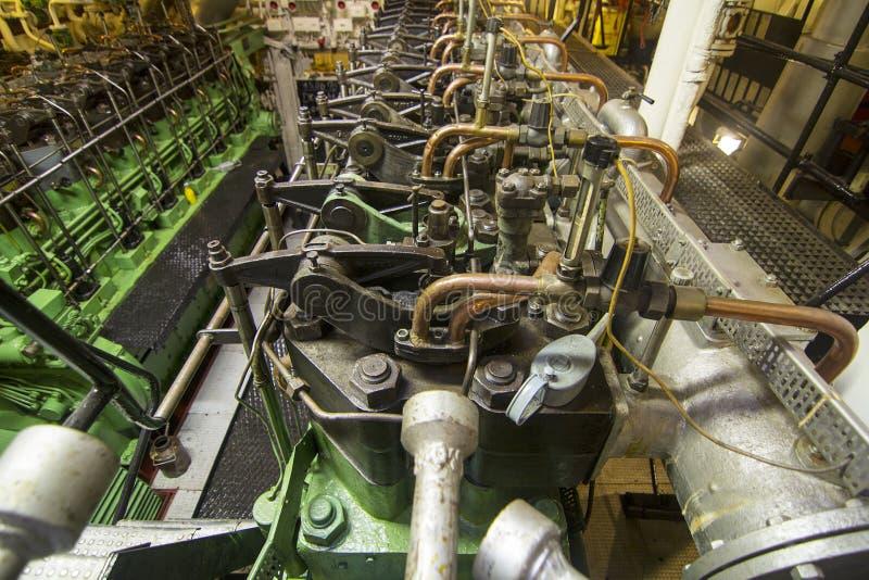 海洋柴油引擎 免版税库存图片