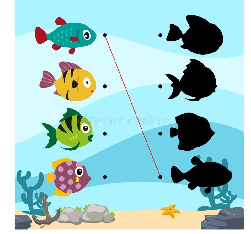 海洋活页练习题传染媒介设计 库存例证