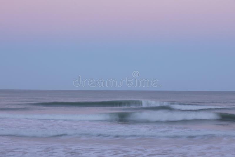 海洋淡色迷离 库存照片