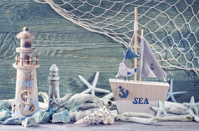 海洋生物装饰 免版税库存照片