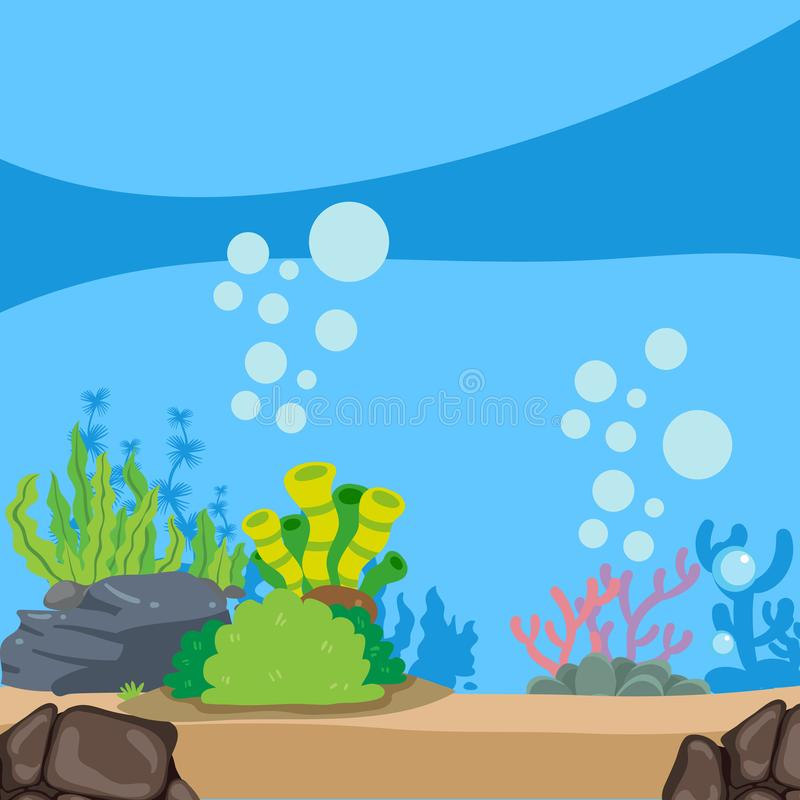 海洋背景传染媒介设计 库存例证