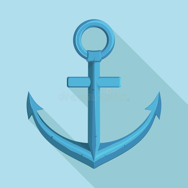 海洋设计的船锚 船` s船锚的例证 皇族释放例证